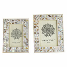 Gauri Kohli Somerset Mother of Pearl Picture Frames (Twin Pack)