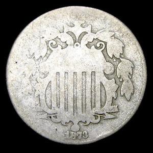 1873 Shield Nickel ---- Nice Type Coin ---- #W244