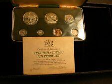 Trinidad and Tobago 1971 Proof Set  Silver COA and Original Case of Issue
