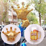Gold Crown Beer Cup Foil Balloon Wedding Celebration Birthday Bachelorette Party