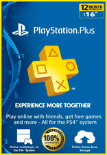 Playstation Psn Plus 12 Months 365 Days 1 Year Ps4-Psvita-Ps3 (READ Description)