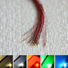 12pcs précâblé 0402 SMD Led pré-câblé blanc chaud froid rouge bleu vert pre wire