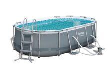 Ground Pool Bestway Oval Power Steel 4.27m X 2.50m X 1.00m  FREE Pump+Ladder