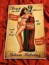 NUKA COLA~SEXY COCA COLA CLASSIC PIN UP GIRL~ART PRINT~SIGNED NATHAN SZERDY