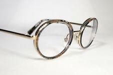 Pre-owned ALAIN MIKLI GRENETTE A02026 Multicolor & Gold Glasses Eyeglass Frames