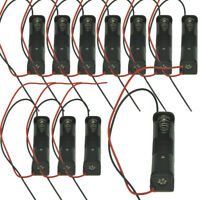 "10PCS Battery Holder 1-AAA Cell Case Box With 6"" Cable Leads For DIY"