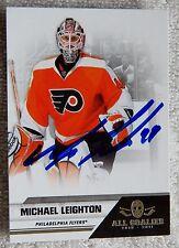 Philadelphia Flyers Michael Leighton Signed 10/11 Panini All Goalies Card Auto