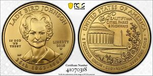 2015-W Lady Bird Johnson $10 Gold 1/2 oz First Spouse Coin MS70 lowest mintage