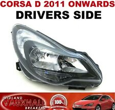 VAUXHALL CORSA D FACELIFT DRIVERS SIDE HEADLIGHT BLACK STYLE OFF SIDE SRI VXR