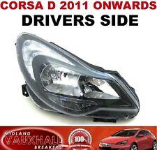 VAUXHALL CORSA D FACELIFT DRIVERS SIDE HEADLIGHT BLACK STYLE OFF SIDE SRI VXR
