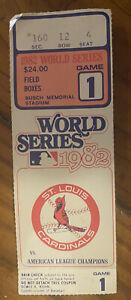 1982 World Series Ticket Stub Game 1 @ Busch Stadium St. Louis