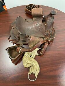 Rare Leather Vintage Western Horse Saddle ~ Gorgeous!!!