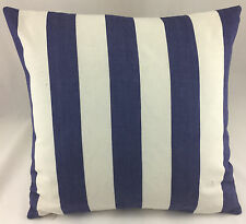 Striped Cream & Dark Blue Same Fabric Both Sides Evans Lichfield Cushion Cover