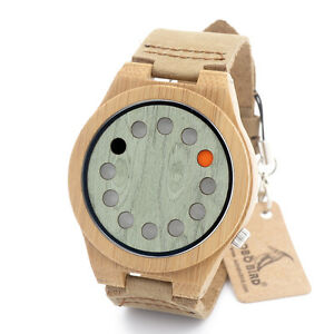 BOBO BIRD Wooden Watches Luxury Design Mens Watch Bamboo Quartz Wrist Watches
