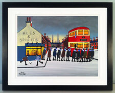 """JACK KAVANAGH """"GOING TO THE MATCH"""" SHEFFIELD WEDNESDAY FRAMED PRINT"""