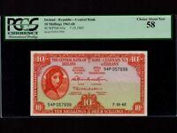 Ireland:P-63,10 Shillings,1965 * Lady Hazel Lavery * PCGS AU 58 *