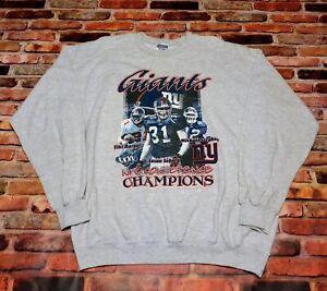 Jason Sehorn New York Giants 2001 NFC Conference Champions Sweatshirt XL NFL