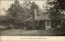 Meriden Ct Hubbard Park Waiting Room c1910 Postcard