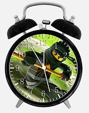"Lego Ninjago Ninja Alarm Desk Clock 3.75"" Home or Office Decor X46 Nice For Gift"