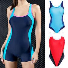 Ladies Training Monokini Swimsuit Bikini Sports Racing Swimwear One Piece S-3XL