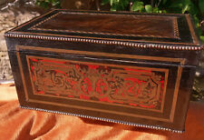 Antique French Boulle Marquetry Box Napoleon III Circa 1870