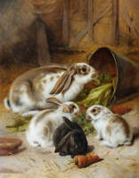 Bunny Rabbits 3 by ALFRED RICHARDSON BARBER