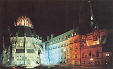 R143566 The Library and Parliament Buildings. Illuminated at night. Ottawa. Onta