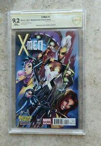 MARVEL X-Men #1 Midtown Comics Variant Signed Artist J Scott Campbell CBCS 9.2