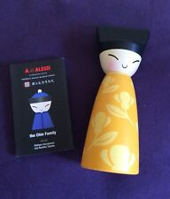 Alessi The Chin Family Salt, Pepper, Spice Grinder Colour Yellow, New In Box