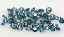 Natural Loose Diamond Round VS1 SI1 Clarity Blue Color 1.55 to 2.05MM 15 Pcs Q24
