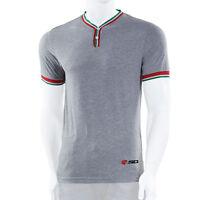 Sidi casuals t-shirt Regal button Grey motorcycle track paddock wear