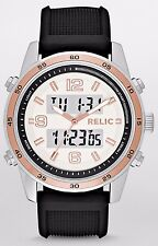 Relic Men's Barrett Silver-Tone Analog-Digital Display Watch with Silicone Strap