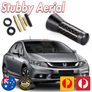 Stubby Bee Sting Black Carbon Fiber Antenna Aerial for Honda Civic Si SIR Type R