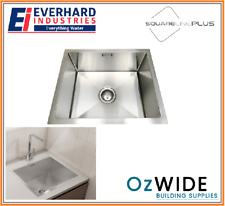 Everhard Squareline Laundry Sink 42L Overflow Under Mount & Top Mount Modern