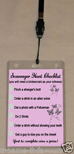PERSONALISED HENS NIGHT VIP PASS AND SCAVENGER HUNT LANYARD - DOUBLE SIDED