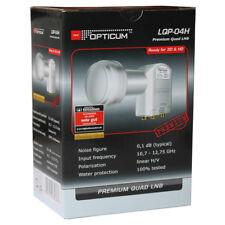 Quad LNB Opticum LQP-04H premium universal Quad HD,Polsat,Cyfra+TNK konwerter