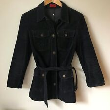VINTAGE LEVI'S BIG E BLACK CORDUROY JACKET 60s 70s WOMENS MISS LEVIS DENIM COAT