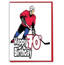 Ice Hockey 70th Birthday Card - Dad Son Grandson Husband Brother Grandad Mens