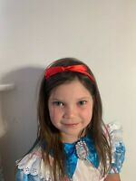 Alice Band Red Matilda Style Satin Girls Hairbands Red Bow World Book Day
