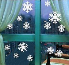 Christmas Xmas Snow Flakes Removable Vinyl Window Door Shop Sticker Wall Decor