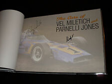 The Cars of Vel Miletich and Parnelli Jones HC book signed by Parnelli Jones + 1