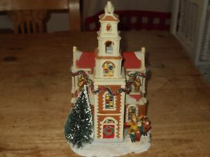 Light Up Christmas Village Church Scene with Carol Singers, same as Lemax