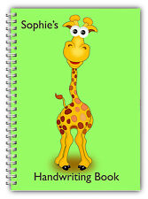 A5 PERSONALISED CHILDREN'S NOTEBOOKS/50 LINED HAND WRITING PRACTICE PAPER/ 04