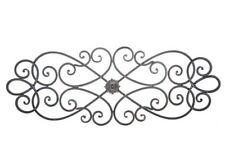 Rustic Floral Scroll Metal Wall Decor Traditional Scrolled Iron Floral Home Art