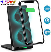 For iPhone 12/Pro/Max/Mini/11 X XS 15W Qi Wireless Charger Fast Charging Stand