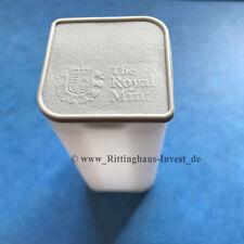 original Münztube Queen´s BeastsTube Silbermünzen 10x 2oz the Royal Mint UK leer
