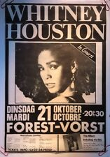 Original Vintage Whitney Houston Concert Poster German Tour Pin-up 1980's Music