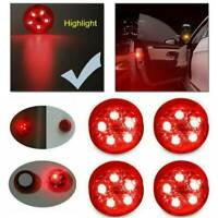 4x 12V Car 5-LED Door Open Warning Lamp Strobe Flash Anti-Collision Safety Light