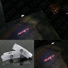 2x Red SRT Logo Car LED door courtesy projector lights HD For Dodge Challenger