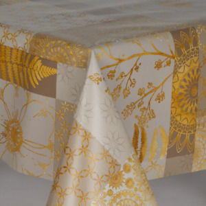 FLORAL & NATURE WIPE CLEAN TABLE CLOTH OIL VINYL TABLE COVER PROTECTOR NATURAL